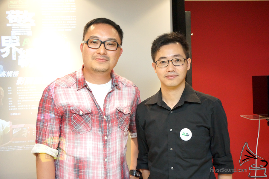 左起:警界線導演MC以及AV雙周主編Desmond。