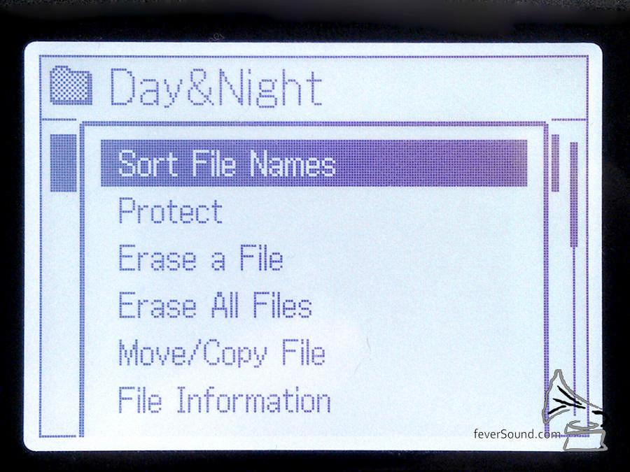 當你拉了一個資料夾入 PCM-D100,它未必會按次序排列,遇到這個情況就可手動「Sort by file name」。
