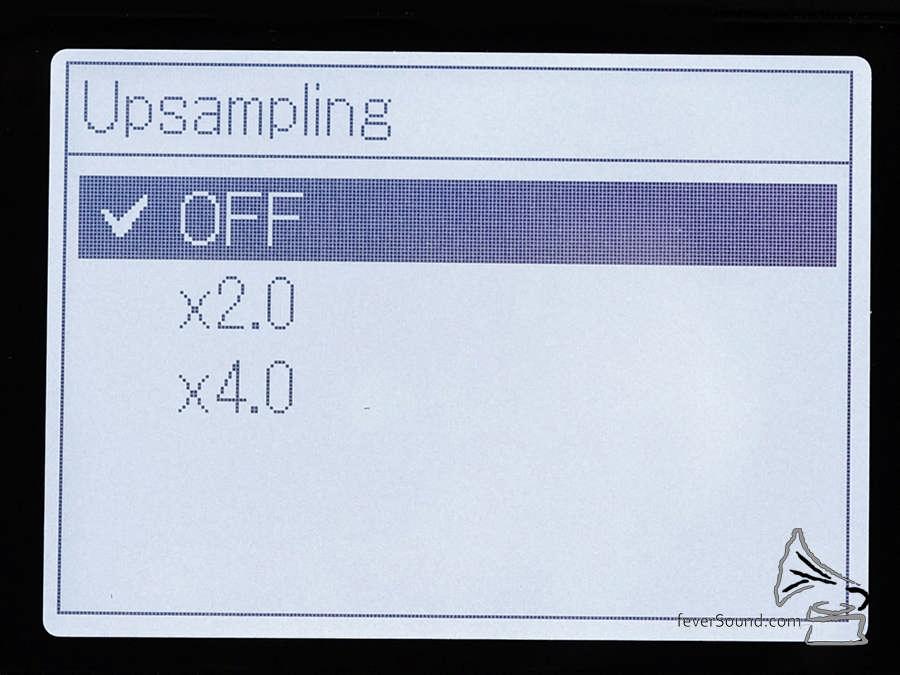 Upsamling 播放功能適用於 PCM 檔案,不過效果並不明顯。
