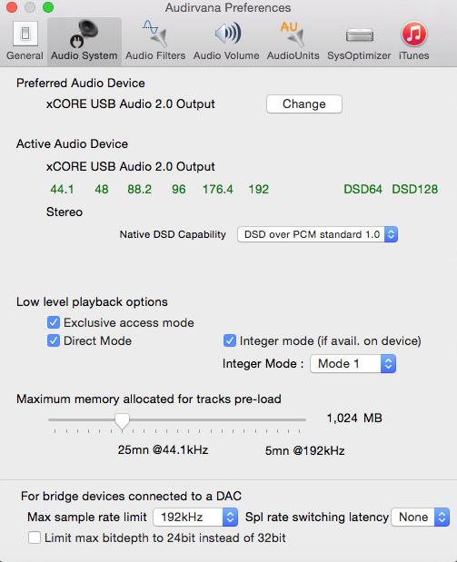 USB支援Audio Class 2.0,OSX隨插即聽DSD128