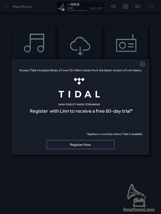 要留意!以 Linn 提供的連結註冊 Tidal 戶口,可由一個月免費變成兩個月免費!