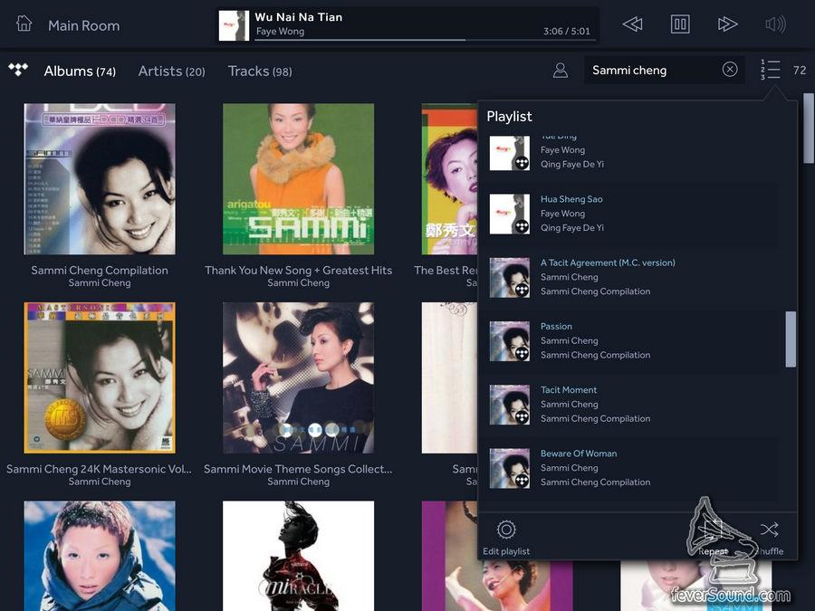可以放入 playlist,和自己的歌相互播放