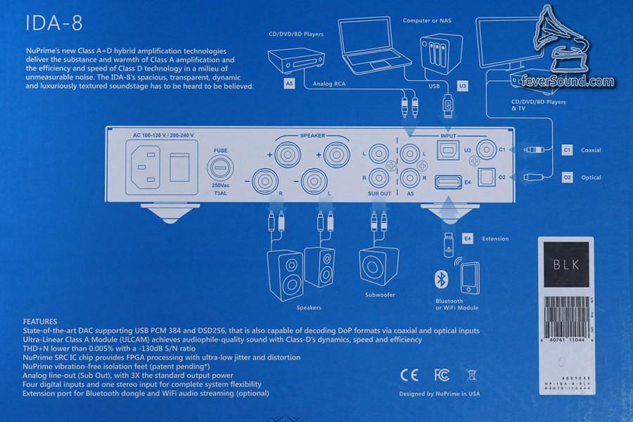 機背羅列出所有可以接駁的裝置,名副其實的「應有盡有」