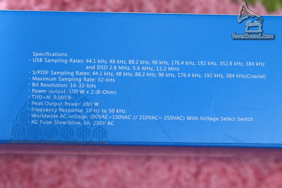 優秀的規格,包括DSD256,留意同軸也援DXD!