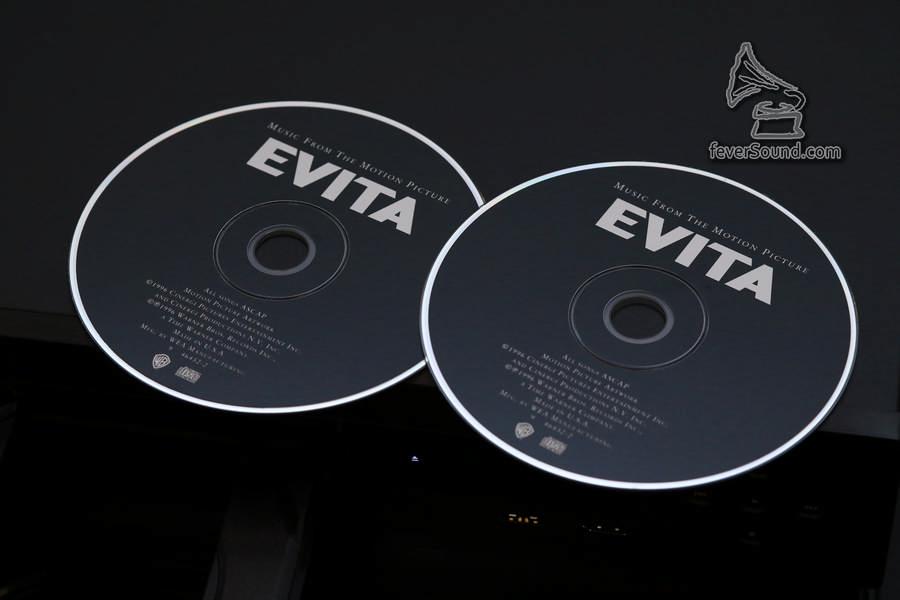 年來有不少CD是買了重覆,本來以為沒有用,但今次實試103D SE卻大派用場,圖為Evita OST美版
