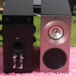 揚聲器的正面及背面,低音反射孔設在背面