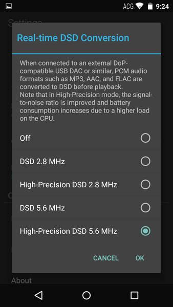 除了DSD原生輸出,也可把PCM音樂經USB DSD升頻輸出