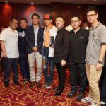 左起:Hiendy 鎗王、香港中樂團錢國偉、現代音像Andy、葉振棠、MS Power Simon、BO Acoustic Owen、Hiendy 朱賓