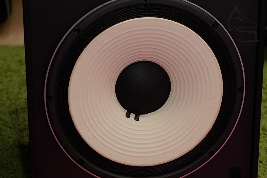 12吋低音,本身單元有Damping,風琴邊,因為數十年前的擴音機阻尼系數並不高,今日夾Amp也不應夾配太高Damping Factor的擴音機,否則聲音會很緊張,聲尾也會不足