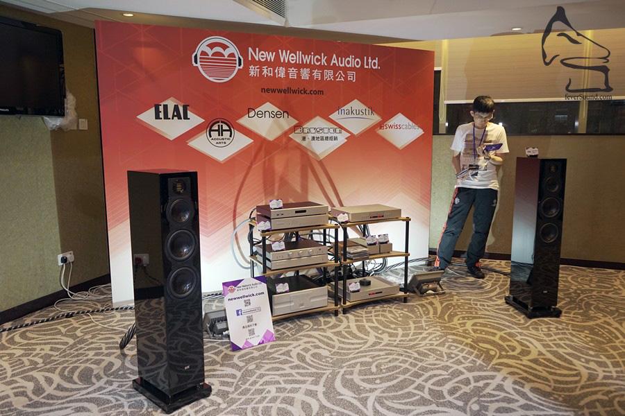 新和偉在三日內有不同組合開聲,包括ELAC的FS409座地揚聲器