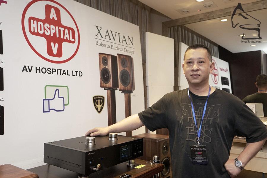 院長今年主力捷克Xavian的全新旗艦揚聲器Orfeo,並有Pioneer兩聲道西裝合作開聲