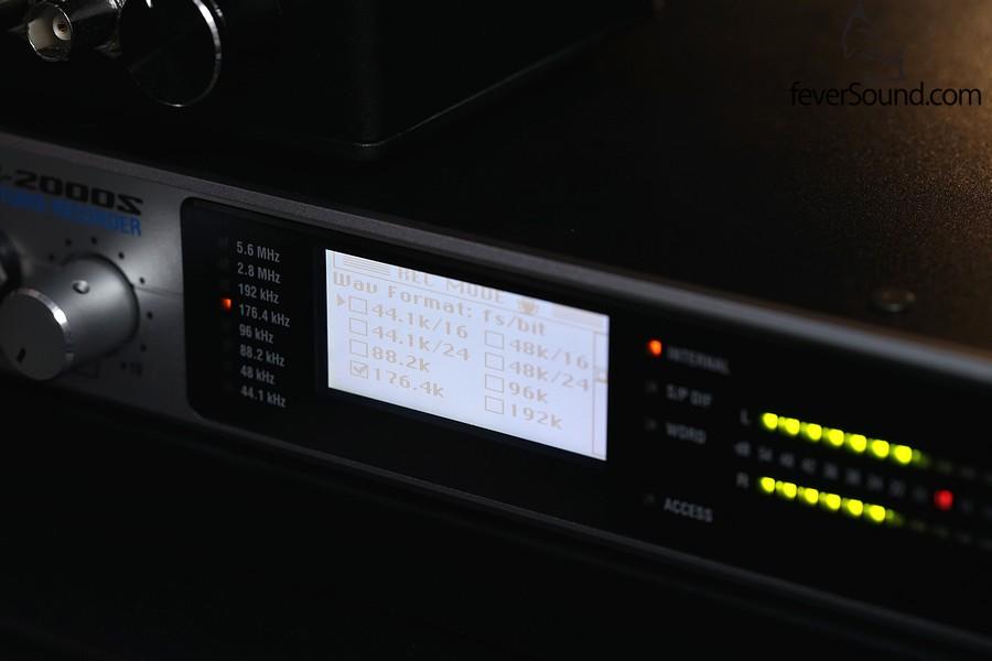 模擬轉數碼的設定,選擇了24bit 176.4kHz作實試