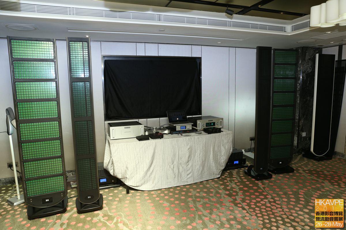 香港自家品牌King Sound設計的靜電揚聲器甚受注目