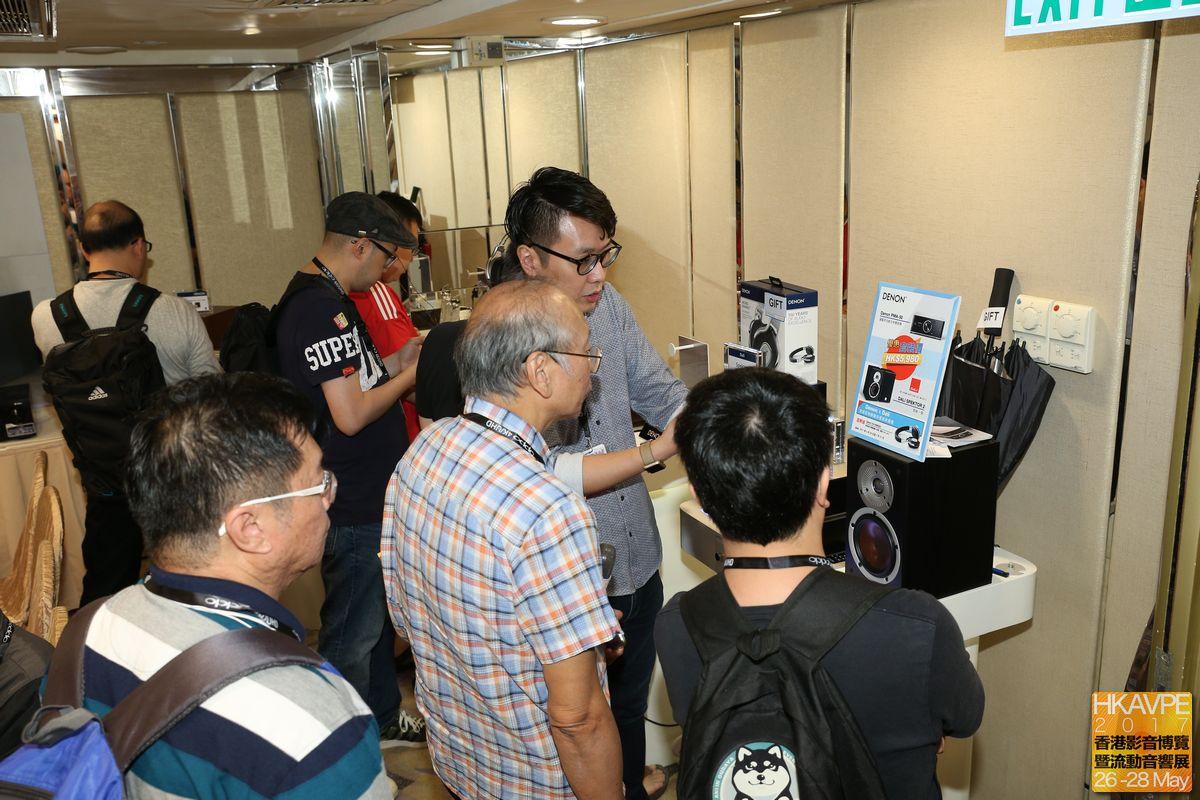 Denon的房間也展示全新 2500系列的產品,但同時Denon的Headphone及小型音響也很受歡迎