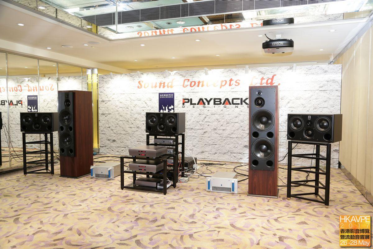 Sound Concepts Ltd.的大房固然有大大對英國ATC,但這還不夠,還要玩Multi Channel DSD播放,器材正正是DSD之父Andreas Koch的美國Playback Designs全新旗艦分體SACD/CD轉盤MPR-8及旗艦解碼MPD-8,沒錯,當時是全亞洲首度開聲!